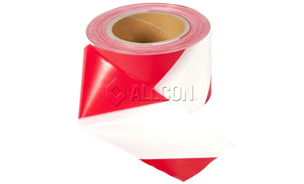 BARRIER TAPE – Red & White 100m x 75mm