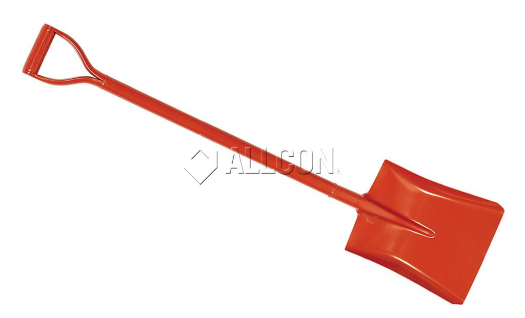 SHOVEL – SQUARE MOUTH – Wasp GT80 Red D-Handle Steel – Long 1105mm