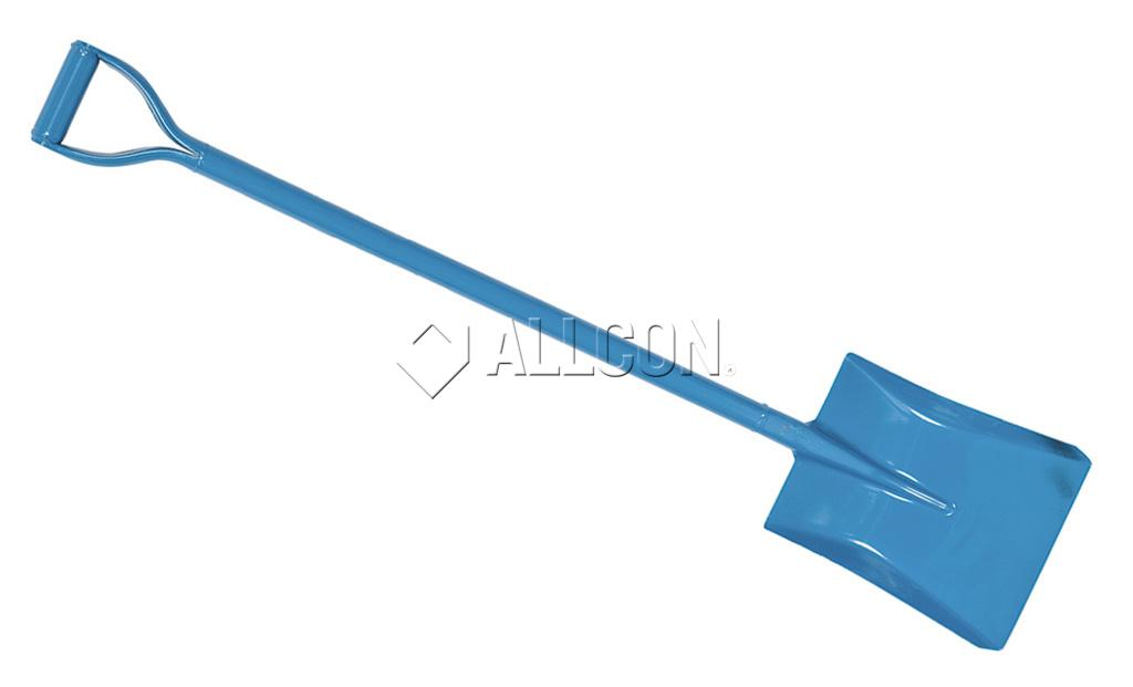 SHOVEL – SQUARE MOUTH – Ox Blue D-Handle Steel – Extra Long 1200mm