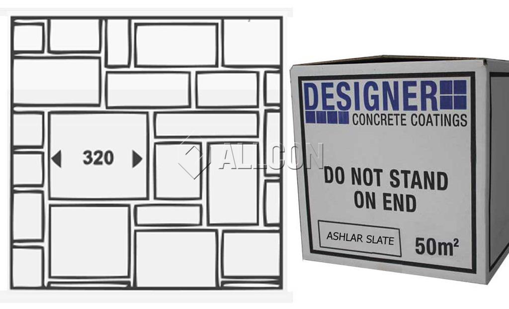 STENCIL – Designer Ashlar Slate 50m