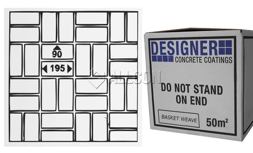STENCIL – Designer Basket Weave 50m