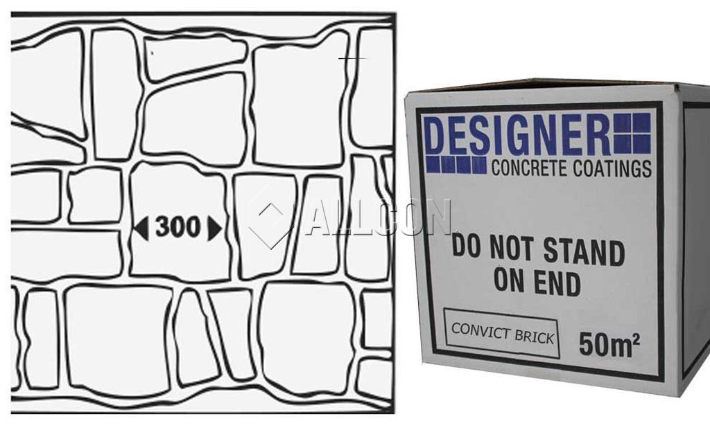 STENCIL – Designer Convict Brick 50m