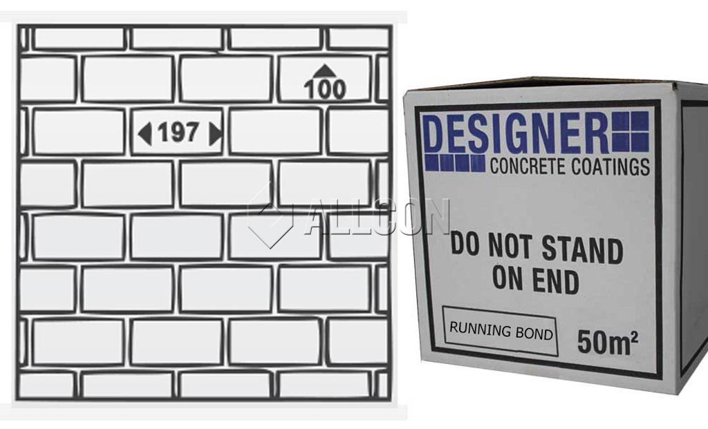 STENCIL – Designer Running Bond 50m