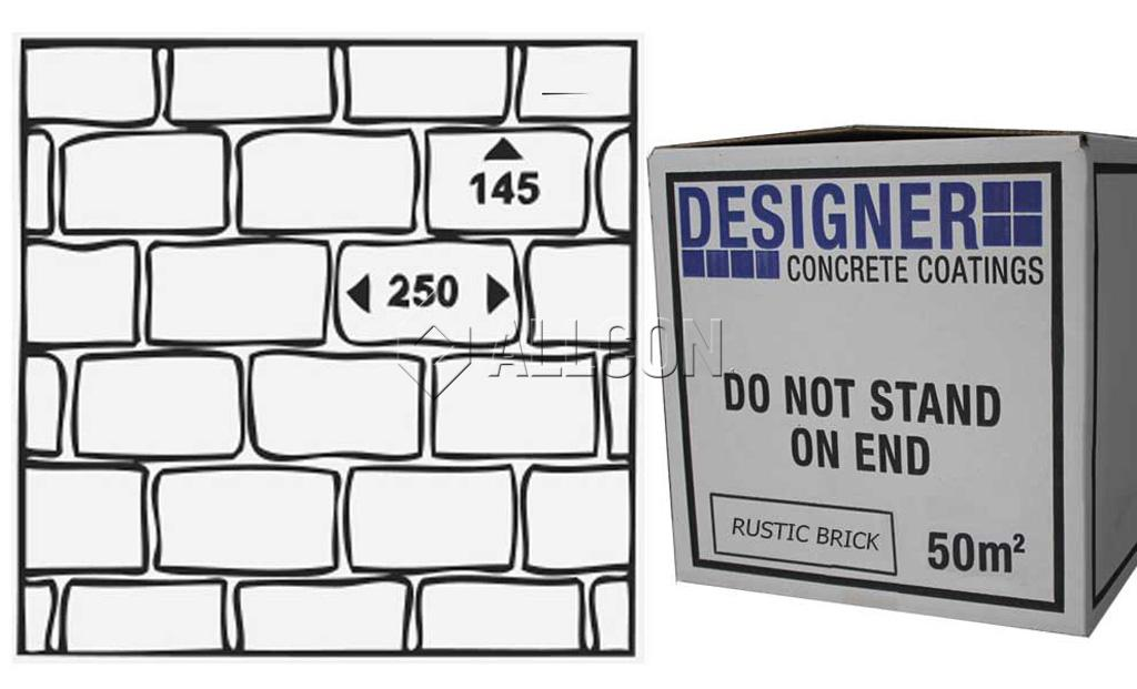 STENCIL – Designer Rustic Brick 50m