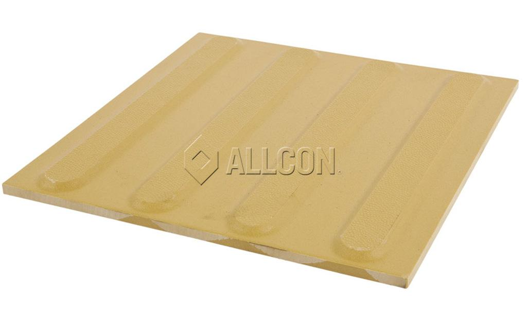 TACTILES – Ceramic 300 x 300mm Yellow DIRECTIONAL – Box of 11